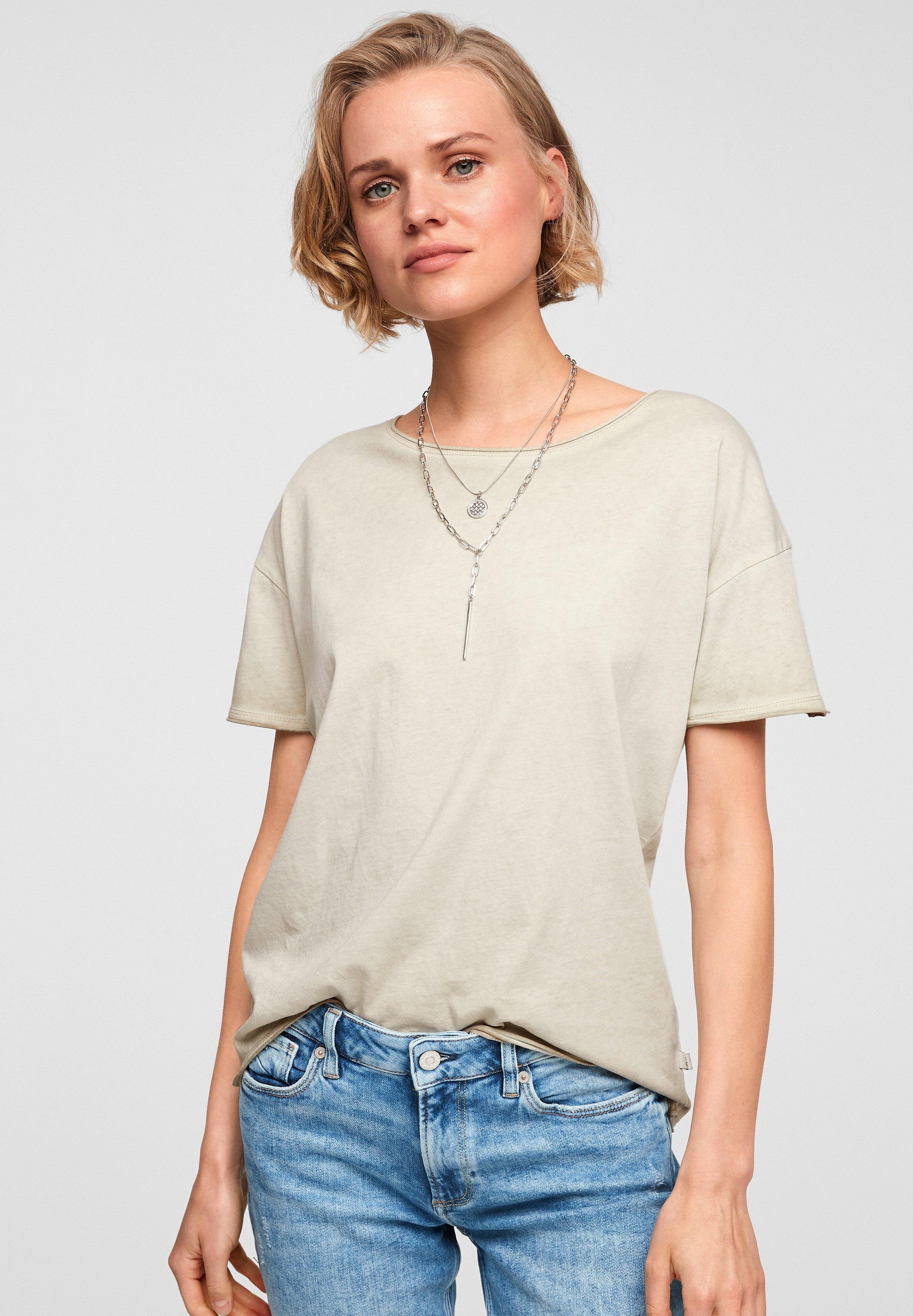 Damen MIT WASCHEFFEKT - T-Shirt basic