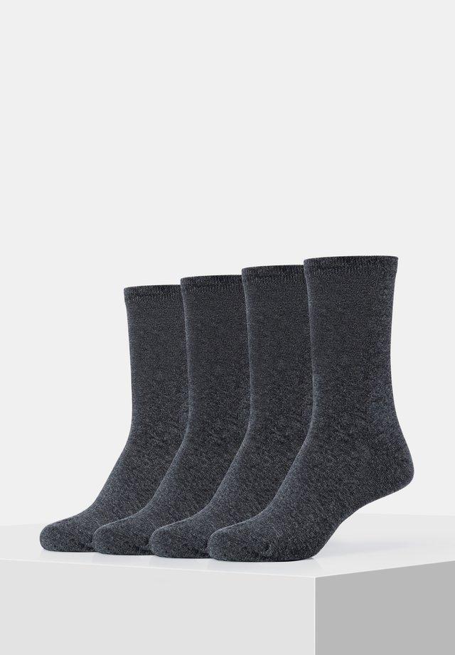 4PACK - Socks - anthracite melange