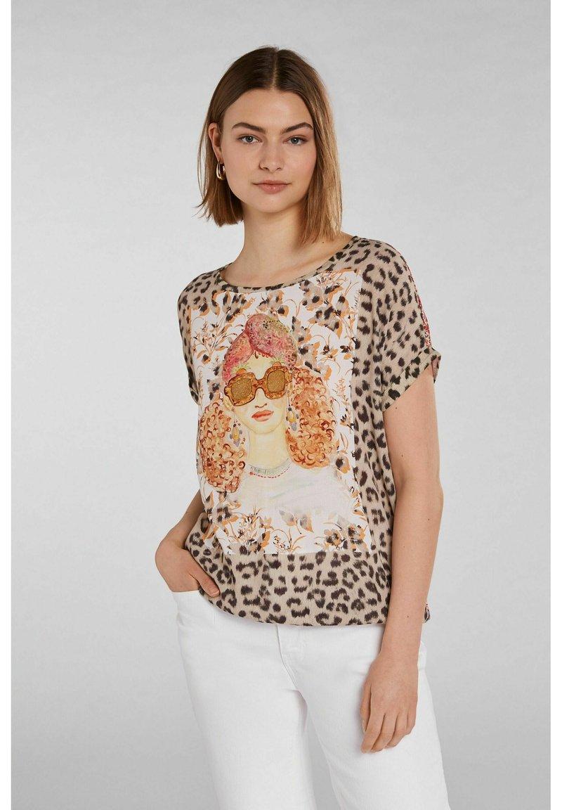 Oui - Print T-shirt - red yellow