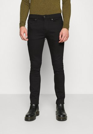 SLHSLIM LEON - Džíny Slim Fit - black