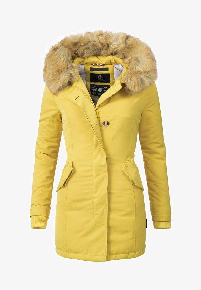 KARMAA - Winter coat - gelb