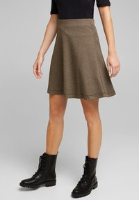 Esprit - FLARED  - A-line skirt - camel - 4