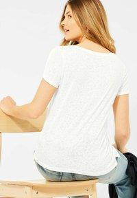 Cecil - BURNOUT OPTIK - Print T-shirt - weiß - 1