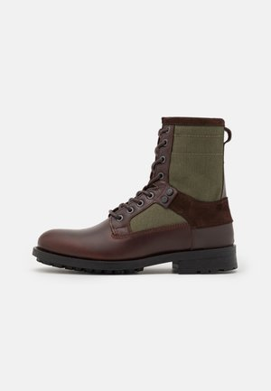 PATTON VI HGH CVS M - Lace-up ankle boots - brown/oliv