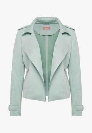 Faux leather jacket - granite green