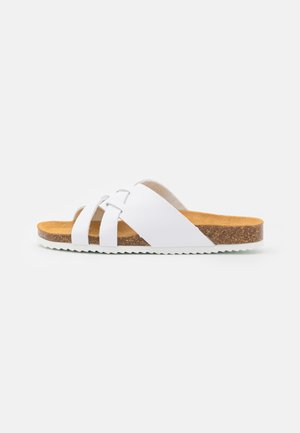 STRIPE - Pantofle - white