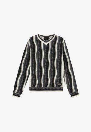 Neule - white black grey