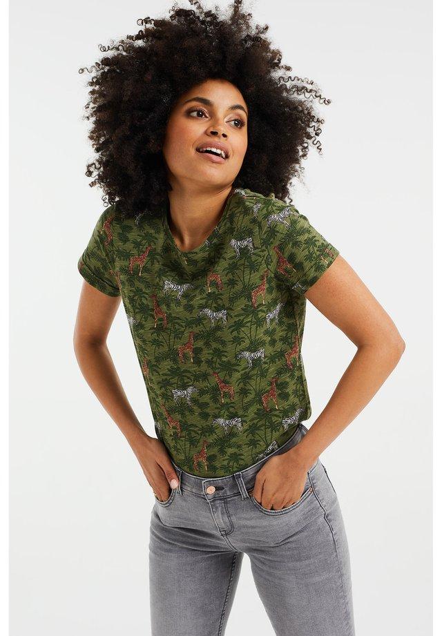 T-shirt print - army green