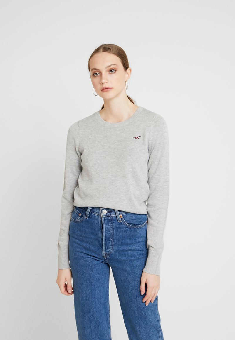 Hollister Co. - ICON CREW - Sweter - grey