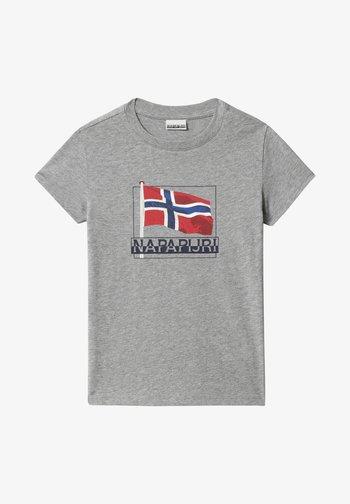 SEJI - Print T-shirt - medium grey melange