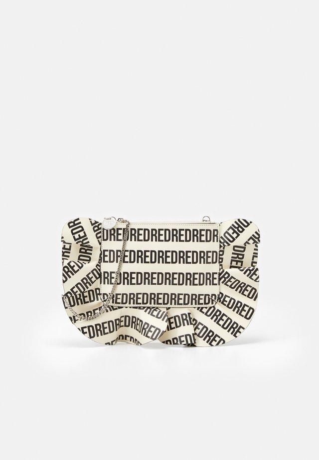 LOGO RUFFLE CROSSBODY - Across body bag - avorio/nero