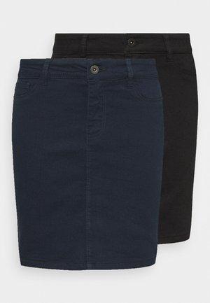 VMHOTSEVEN SKIRT 2 PACK - Pencil skirt - black/navy blazer