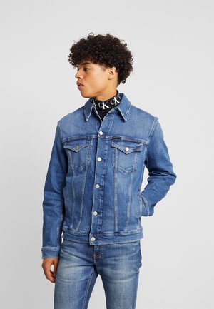 FOUNDATION SLIM JACKET - Kurtka jeansowa - mid blue