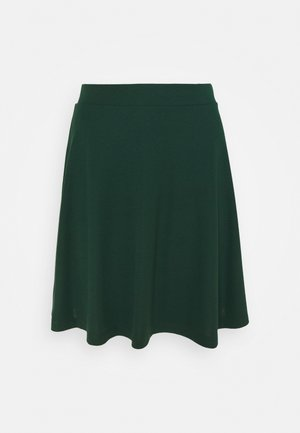 FLOW MINI SKIRT - Falda acampanada - dark teal green