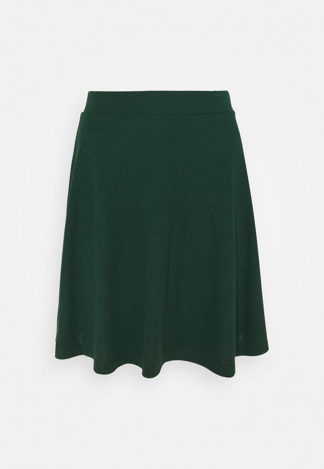 FLOW MINI SKIRT - A-line skirt - dark teal green