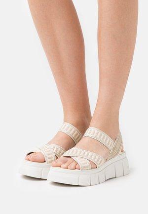 TRINITARIA LINO - Platform sandals - taupe