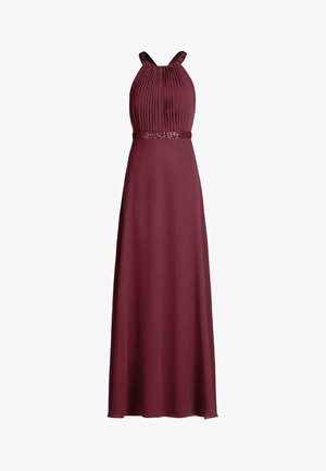 Maxi dress - shiny bordeaux