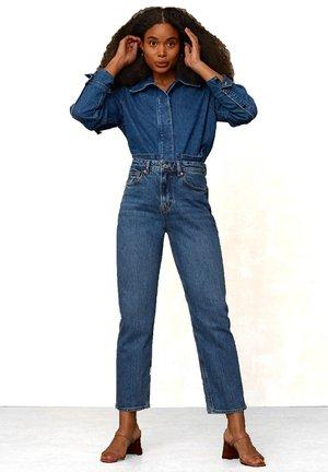CAROLINE - Straight leg jeans - eco xavier blue marble