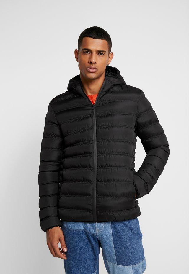 GRADIENT FADE PUFFER JACKET - Light jacket - black