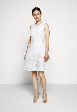 FIT AND FLARE - Day dress - cream