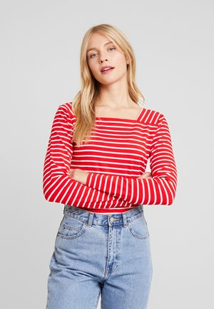 LIDO - Long sleeved top - high risk red/chalk