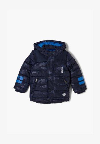 Winter jacket - dark blue aop