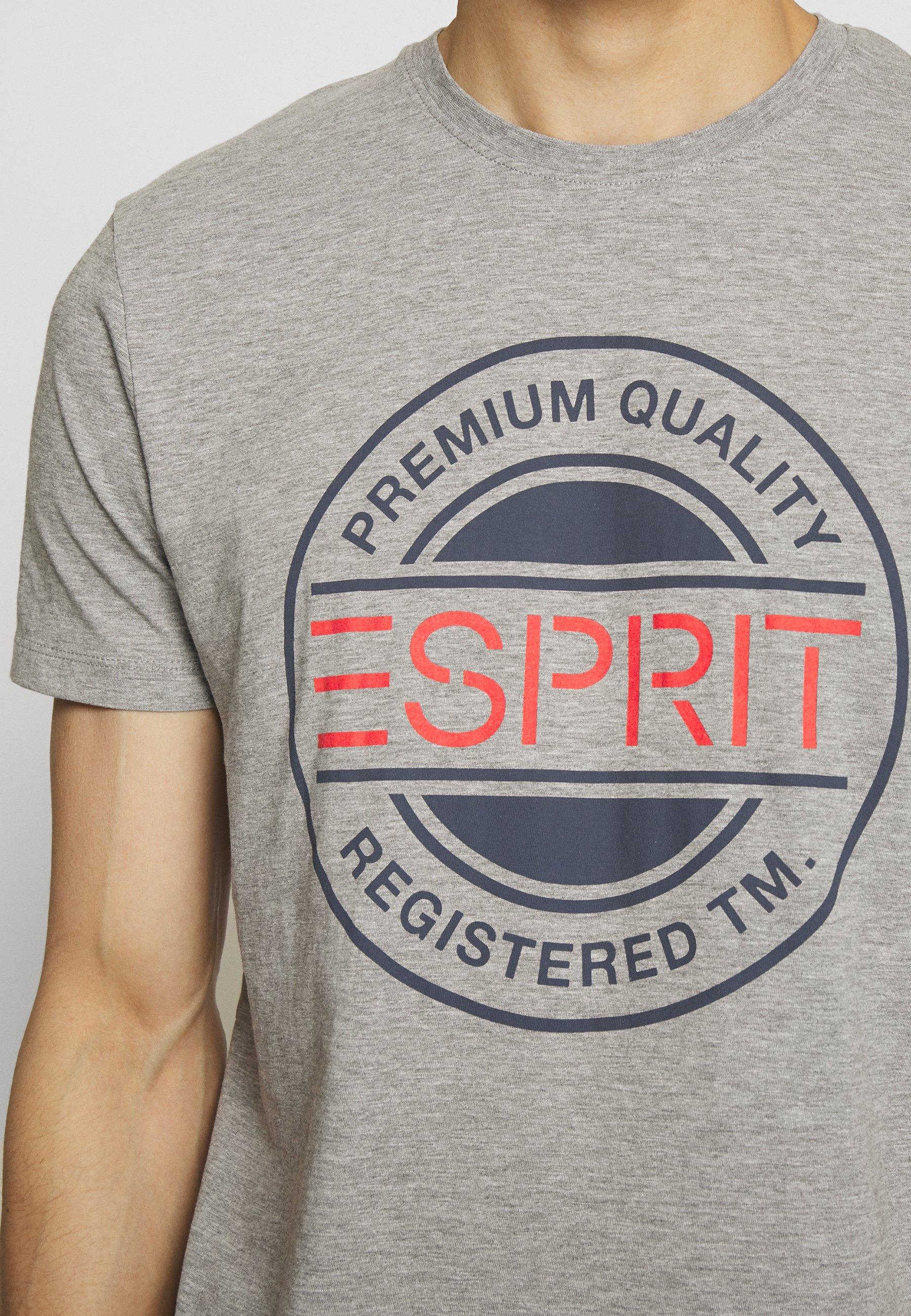 Esprit Print T-shirt - medium grey 0sAxN
