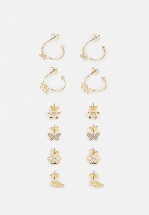 PCZEENKA EARRINGS 6 PACK - Earrings - gold-coloured/clear