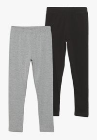 Friboo - 2 PACK  - Leggings - Trousers - light grey/black - 0
