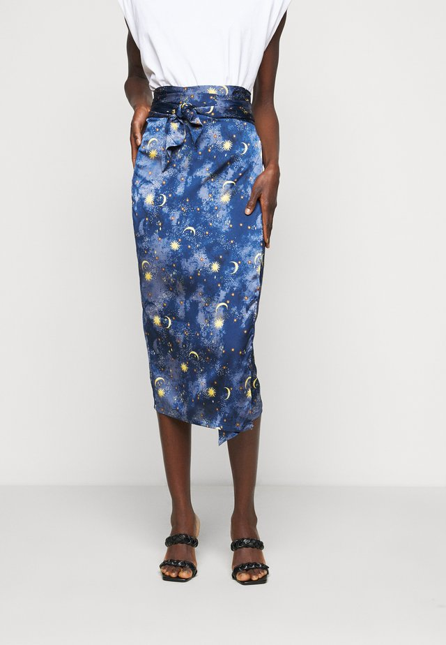 MOON & STARS JASPRE SKIRT - Gonna a campana - navy