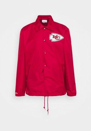 NFL KANSAS CITY CHIEFS COACHES JACKET - Klubbkläder - scarlet