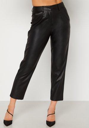UMA PU - Leather trousers - black