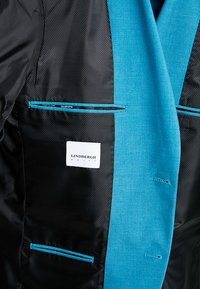 Lindbergh - PLAIN MENS SUIT - Oblek - turquoise melange - 8