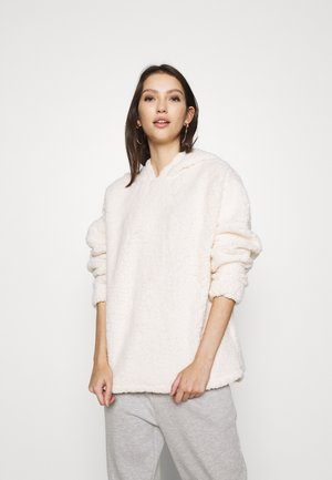 OVERSIZED HOODY - Fleece jumper - cream