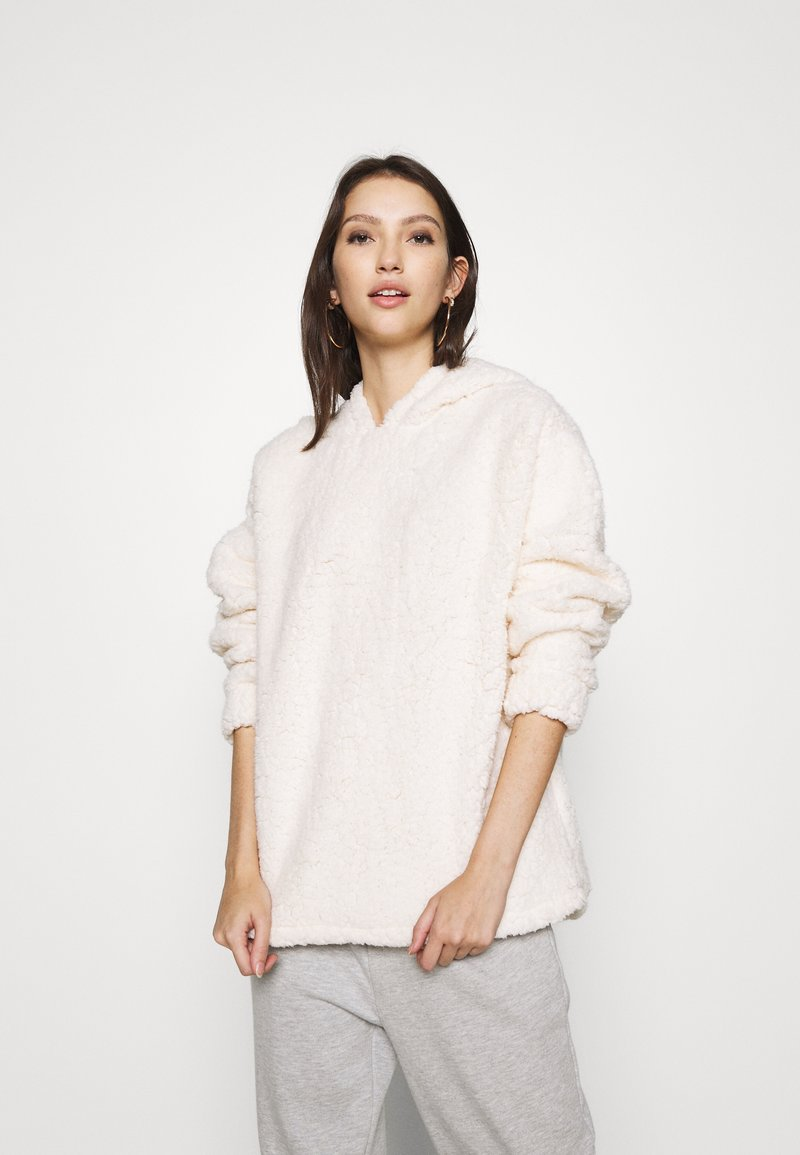 Miss Selfridge - OVERSIZED HOODY - Fleece jumper - cream