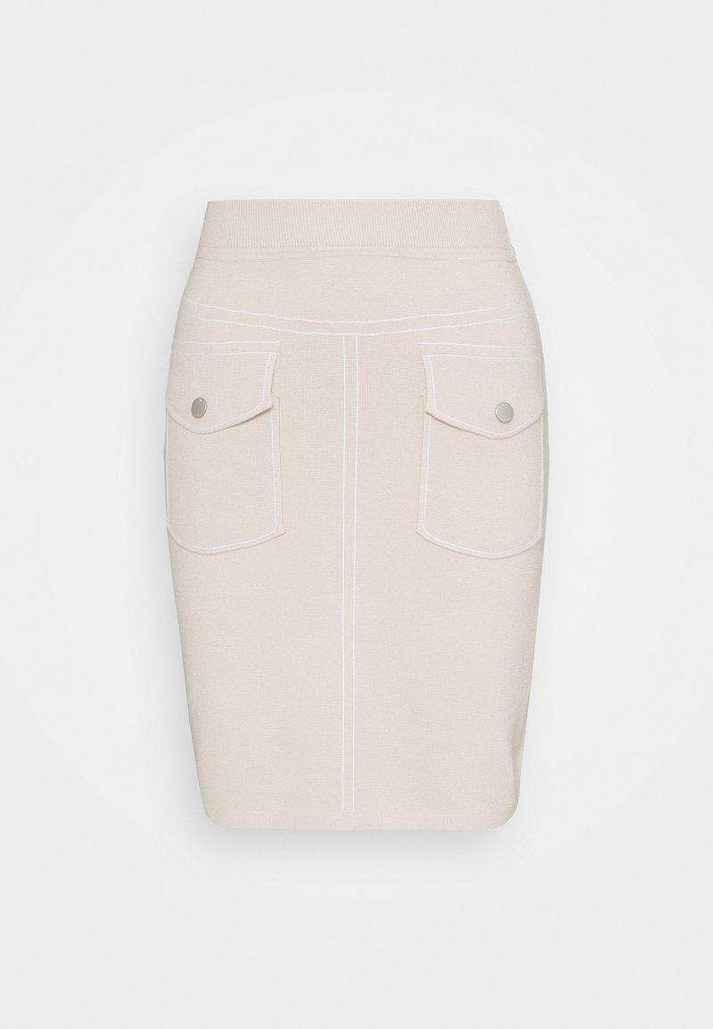 Steffen Schraut - POCKET SKIRT SPECIAL - Pencil skirt - almond