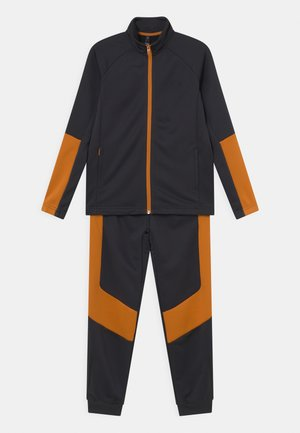 SET UNISEX - Tracksuit - carbon/focus orange/black