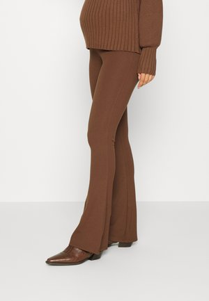 MATERNITY PULL ON FLARE PANT - Leggings - Trousers - brown