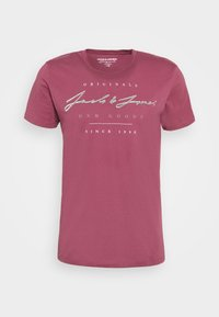 Jack & Jones - JORMARIUS TEE CREW NECK  - Triko spotiskem - hawthorn rose - 4