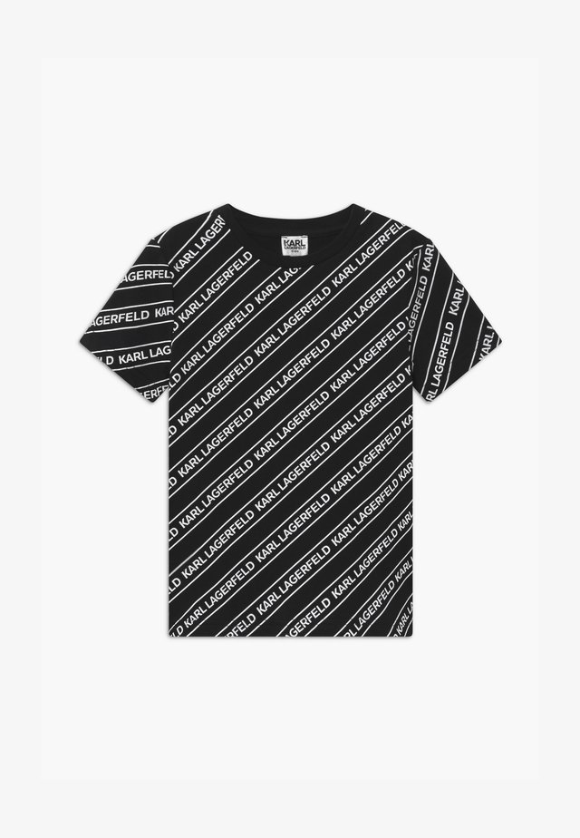 Print T-shirt - black/white