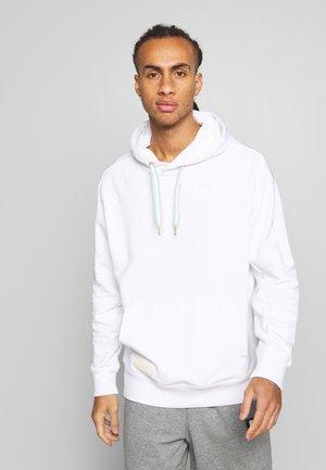 HOOPS HOODY - Jersey con capucha - white