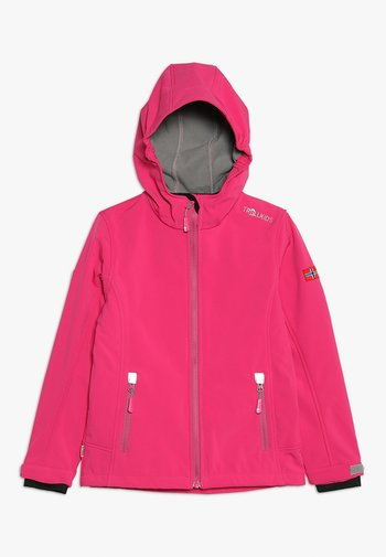 GIRLS TROLLFJORD - Soft shell jacket - magenta/grey