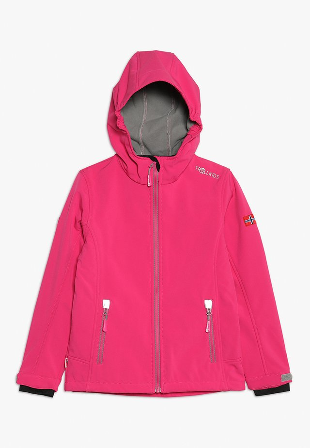 GIRLS TROLLFJORD JACKET - Giacca softshell - magenta/grey