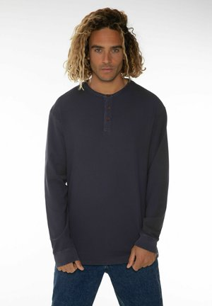 Long sleeved top - oxford blue
