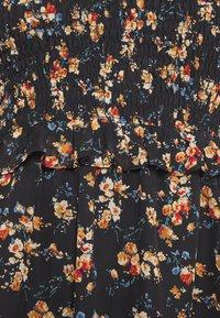 Missguided Plus - FLORAL HIGH NECK MIDI DRESS - Robe d'été - black - 2