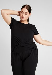 YOGA CURVES - TWISTED  - T-shirt basique - black - 0