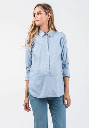 Overhemdblouse - 120 - light blue