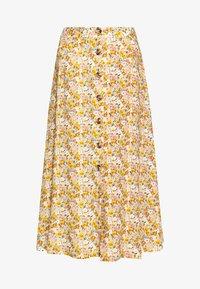 Mavi - LONG SKIRT - A-line skirt - antique white soft ditsy - 2
