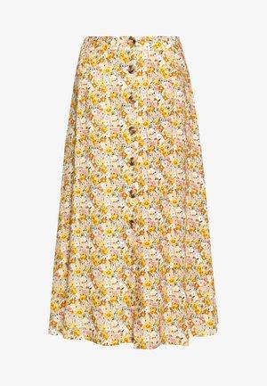 LONG SKIRT - A-line skirt - antique white soft ditsy