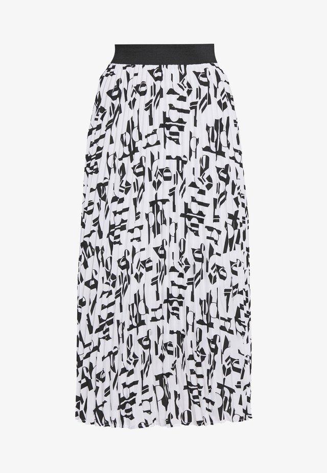 JEMO - A-line skirt - blanc/noir